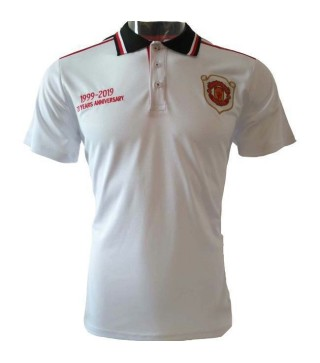 Manchester United 20th Anniversary White Polo