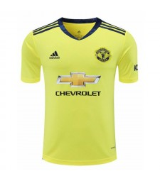Manchester United Yellow Goalkeeper Soccer Jersey Football Shirts Uniforms 2020-2021