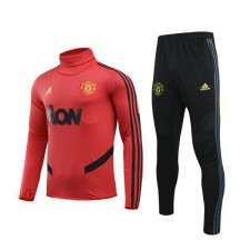 Manchester United Red High Neck Mens Tranining Soccer Tracksuit 2019-2020