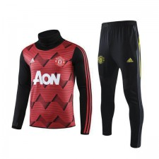 Manchester United Red Round Neck Mens Pad Printing Tranining Soccer Tracksuit 2019-2020