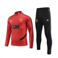 Manchester United Red Round Neck Mens Tranining Soccer Tracksuit 2019-2020