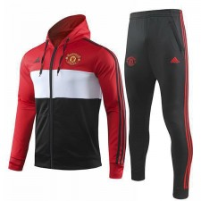 Manchester United Red Hoodie Jacket Football Kit Zipper Training Jersey Outdoor Soccer Coat 2019-2020
