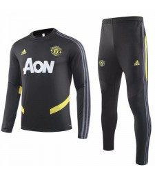 Manchester United Tracksuit Soccer Black Round-neck Football Training Jersey 2019-2020