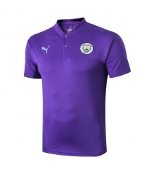 Manchester City Purple Training Polo 2019-2020