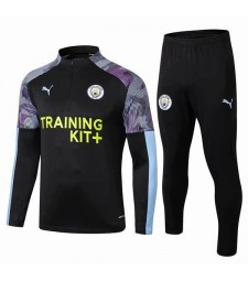 Manchester City Tracksuit Soccer Black Mens Clothes Football Training Jersey 2019-2020
