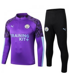 Manchester City Tracksuit Soccer Purple Mens Clothes Football Training Jersey 2019-2020