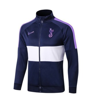 Tottenham Hotspur Purple White Long Zip High Neck Jacket 2019-2020