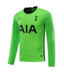 Tottenham Hotspur Green Long Sleeve Goalkeeper Soccer Jersey Mens Football Shirt 2020-2021