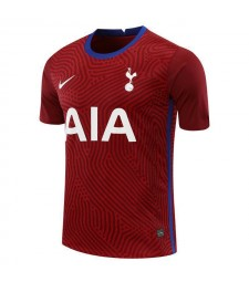 Tottenham Hotspur Red Goalkeeper Soccer Jersey Mens Football Shirt 2020-2021