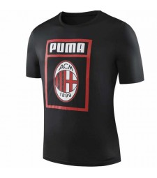 AC Milan Black Round-neck Shirt 2019-2020
