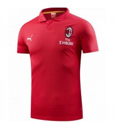 AC Milan Polo Shirt Red 2018-2019