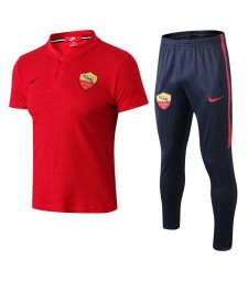 AS Roma Men Polo+Pant Kit Red 2018/2019