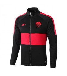 As Roma Black Red Long Zip High Neck Jacket 2019-2020