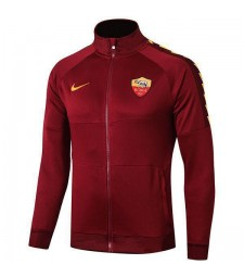 As Roma Red Jacket Football Full Zipper Training  Outdoor Soccer Coat 2019-2020As Roma Red Jacket Football Full Zipper Training  Outdoor Soccer Coat 2019-2020