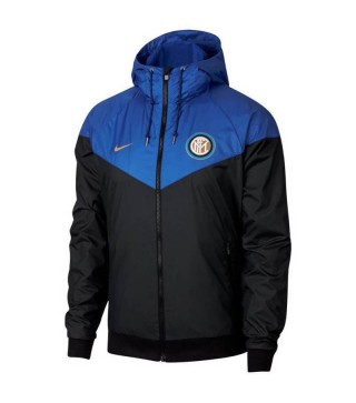 Inter Milan Windrunner Jacket Black Blue 2018/2019