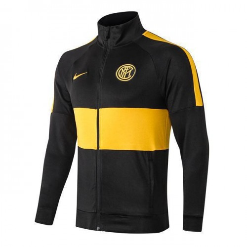 best service b0f56 f4763 Inter Milan All Zip Black Yellow Jacket 2019-2020