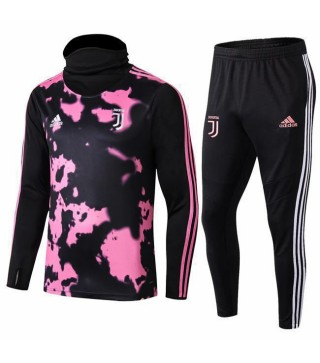 Juventus Black Pink High-neck Tracksuit 2019-2020