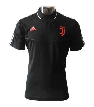 Juventus Black Stripe Polo Shirt 2019-2020