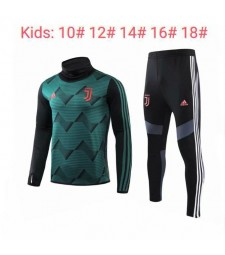 Juventus Green High Neck Kids Tracksuit 2019-2020