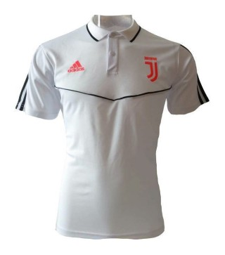 Juventus White Stripe Polo Shirt 2019-2020