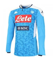 SSC Napoli Home Long Sleeves Jersey Mens Soccer Shirt 2019-2020