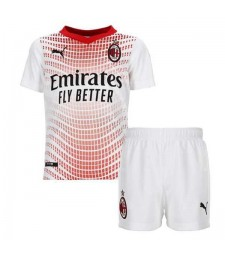 AC Milan Away Soccer Jersey Kids Kit Football Youth Uniforms 2020-2021