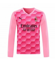 AC Milan Goalkeeper Long Sleeve Pink Soccer Jersey Football Shirts Uniforms 2020-2021