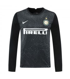 Inter Milan Black Goalkeeper Long Sleeves Soccer Jersey Football Shirts Uniforms 2020-2021