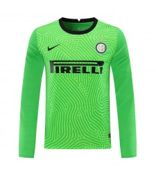 Inter Milan Green Goalkeeper Long Sleeve Soccer Jersey Football Shirts Uniforms 2020-2021