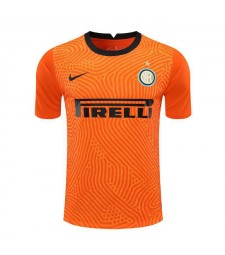 Inter Milan Orange Goalkeeper Soccer Jersey Football Shirts Uniforms 2020-2021