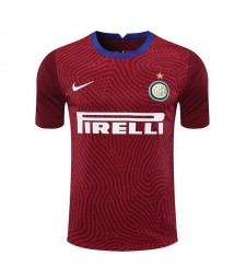 Inter Milan Red Goalkeeper Soccer Jersey Football Shirts Uniforms 2020-2021