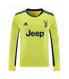 Juventus Yellow Goalkeeper Long Sleeve Soccer Jersey Football Shirts Uniforms 2020-2021