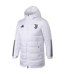 Juventus Winter Jacket White Cotton Coat 2020-2021
