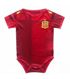 Spain Home Euro Cup 2020 Baby Onesie Jersey