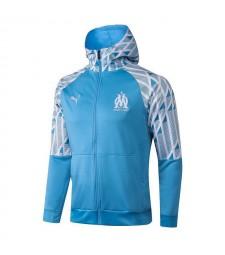 Olympique De Marseille Blue Soccer Hoodie Jacket Football Tracksuit Uniforms 2021-2022