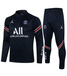 Jordan Paris Saint-Germain Royal Blue Soccer Tracksuit Football Uniforms 2021-2022