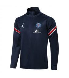 Jordan Paris Saint-Germain Royal Blue Soccer Jacket Pants Mens Football Tracksuit Uniforms 2021-2022
