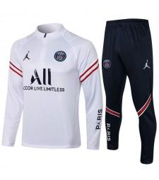 Jordan Paris Saint-Germain Red Stripe White Soccer Tracksuit Mens Football  Uniforms 2021-2022