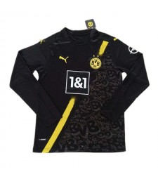 Borussia Dortmund Away Long Sleeve Soccer Jersey Football Uniforms 2020-2021