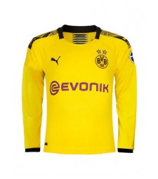 Borussia Dortmund Home Long Sleeve Jersey Mens Soccer Football Jersey 2019-2020