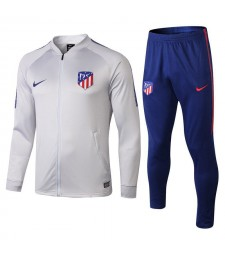 Atletico De Madrid Light Gray Printed Sleeve Tracksuit 2018/2019