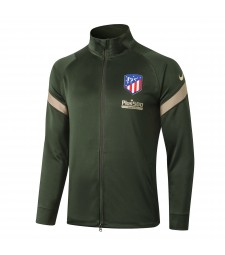 Atletico Madrid Army Green Soccer Jacket Football Tracksuit 2020-2021