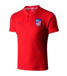 Atletico Madrid Polo Football Training Jersey Soccer Red Sportwear T-shirt 2019-2020