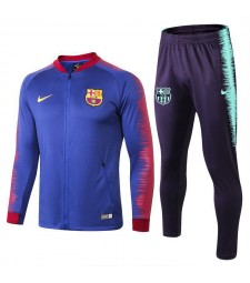 Barcelona Blue Printed Sleeve Tracksuit 2018/2019