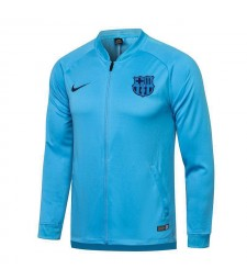 Barcelona Sky Blue Soccer Jacket Pants Mens Football Tracksuit Uniforms 2021-2022