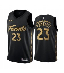 Toronto Raptors 23# VANVLEET Black City Edition Basketball Jersey 2019-2020