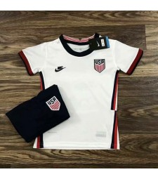 United States America USA Home Soccer Jersey Kids Football Kit Youth Uniforms 2020