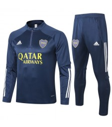 Boca Half Zip Royal Blue Mens Training Soccer Tracksuit 2020-2021