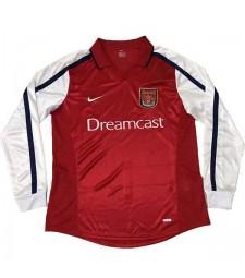 Arsenal Home Retro Jersey Mens First Soccer Sportwear Football Long Sleeves 2000