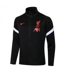 Liverpool Black High Neck Soccer Jacket Mens Football Tracksuit Uniforms 2021-2022